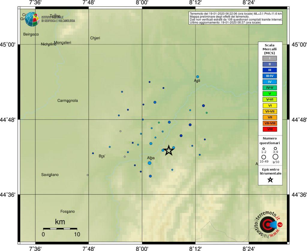 terremoto cuneo neive