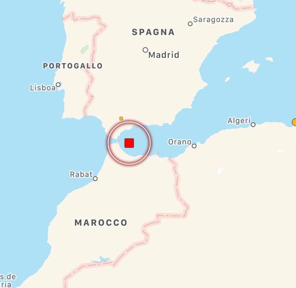 terremoto stretto di gibilterra