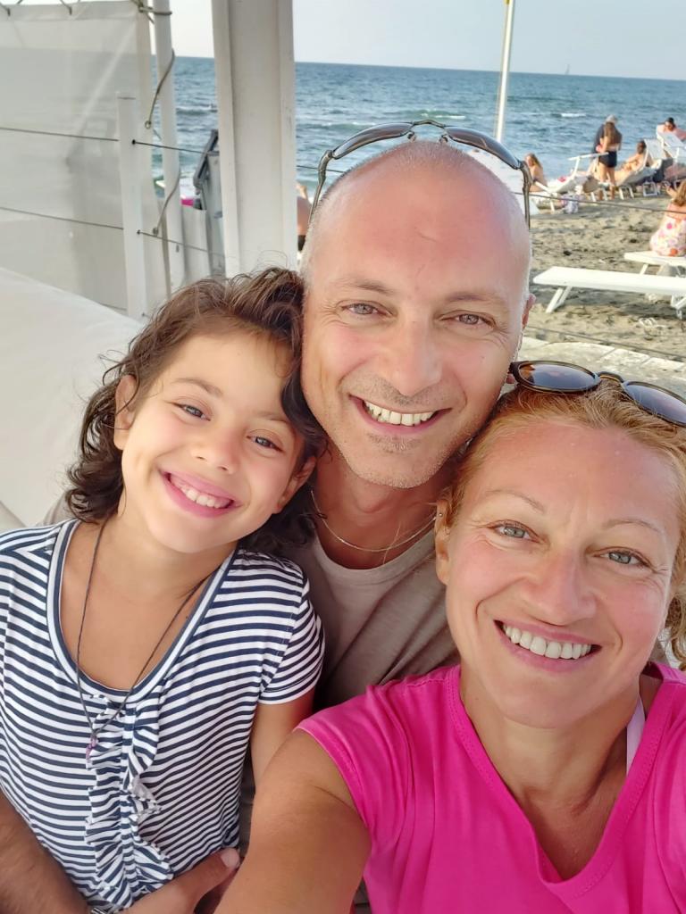 Diana con i genitori