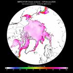 Meteo, il potente Vortice Polare e gli effetti positivi sul ghiaccio dell'Artico: estensione più grande per l'inizio di Febbraio degli ultimi 11 anni