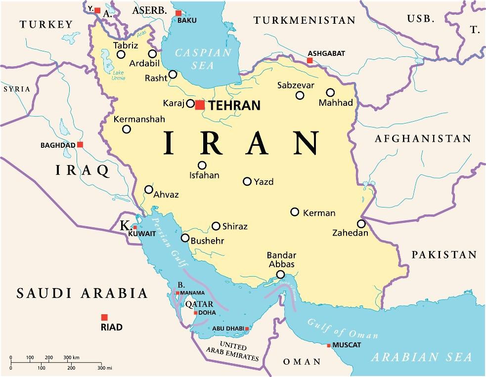 iran mappa