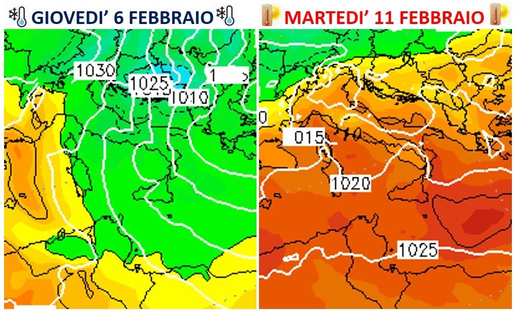 previsioni meteo sbalzi termici febbraio 2020