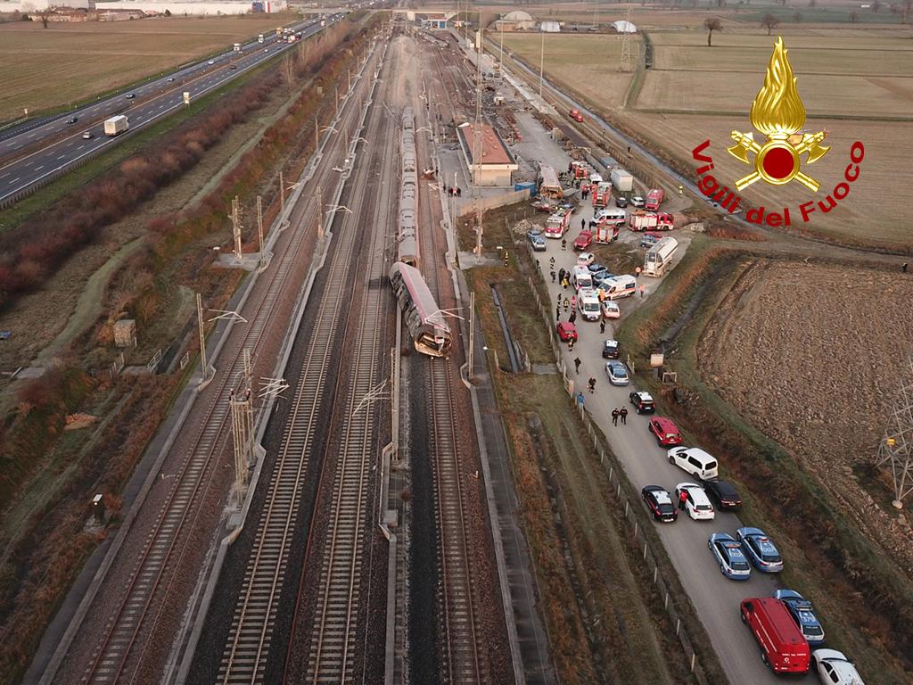 treno deragliato lombardia 6 febbraio 2020