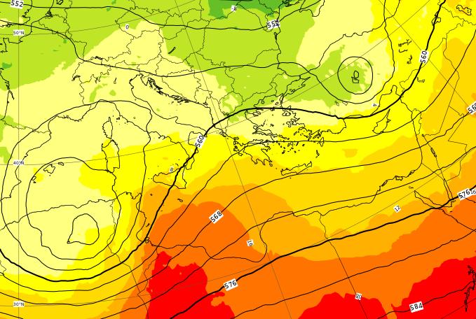Il ciclone si avvicina all'Italia attraversando l'Algeria settentrionale tra Giovedì 2 e Venerdì 3 Aprile