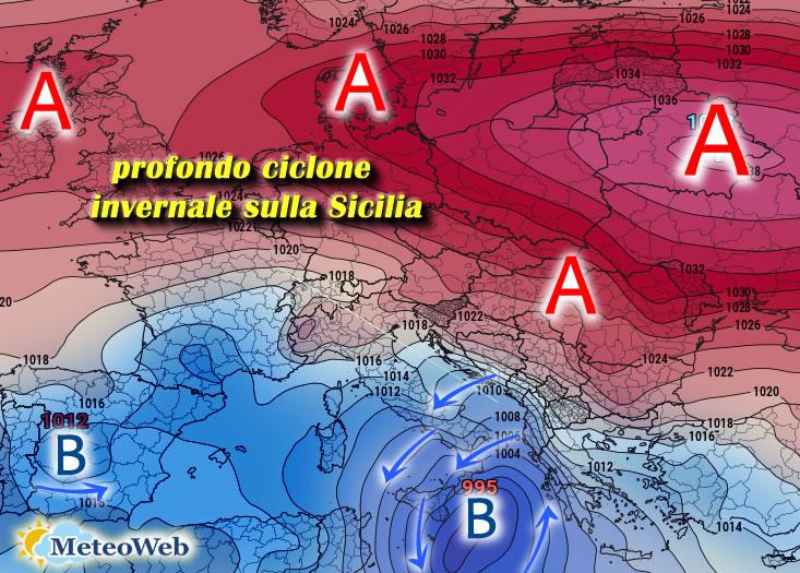 Meteo ultimo weekend marzo Sicilia, domenica attese piogge intense