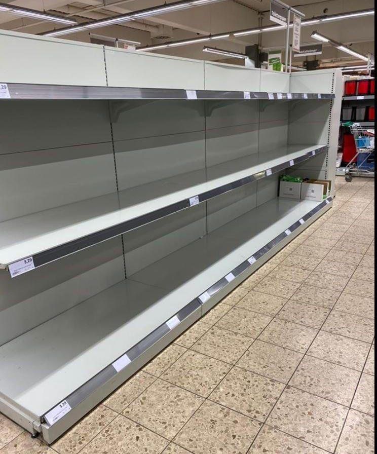 Supermercati vuoti in Germania © Foto MeteoWeb