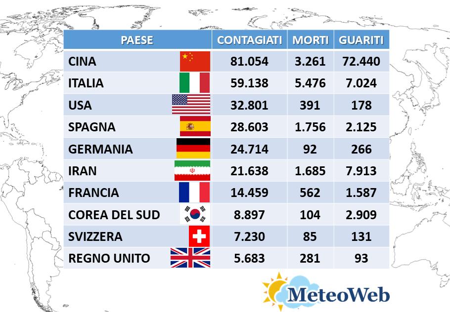 coronavirus italia 22 marzo