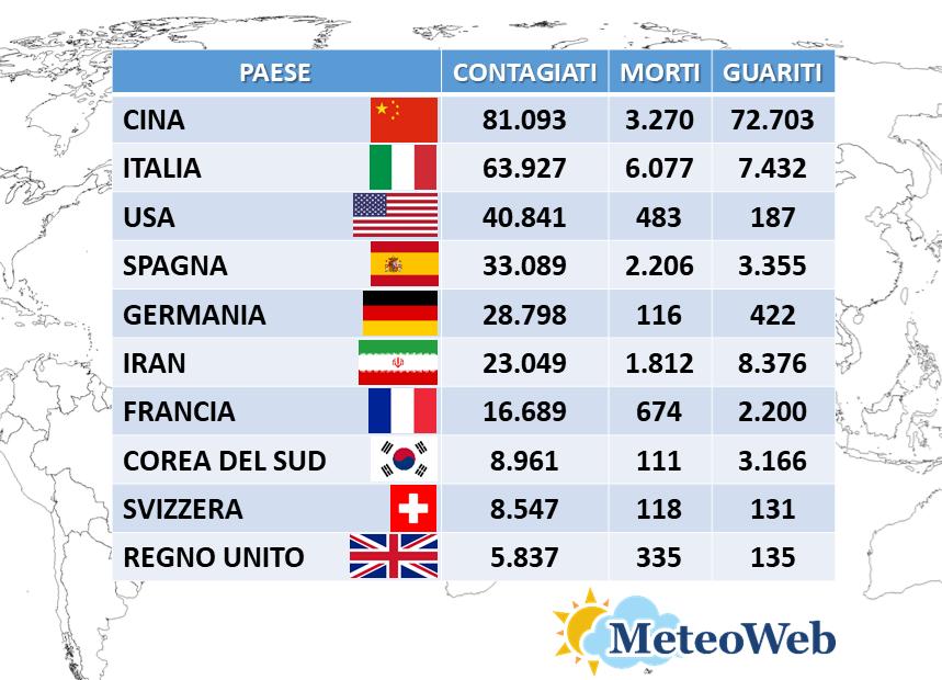 coronavirus italia 23 marzo
