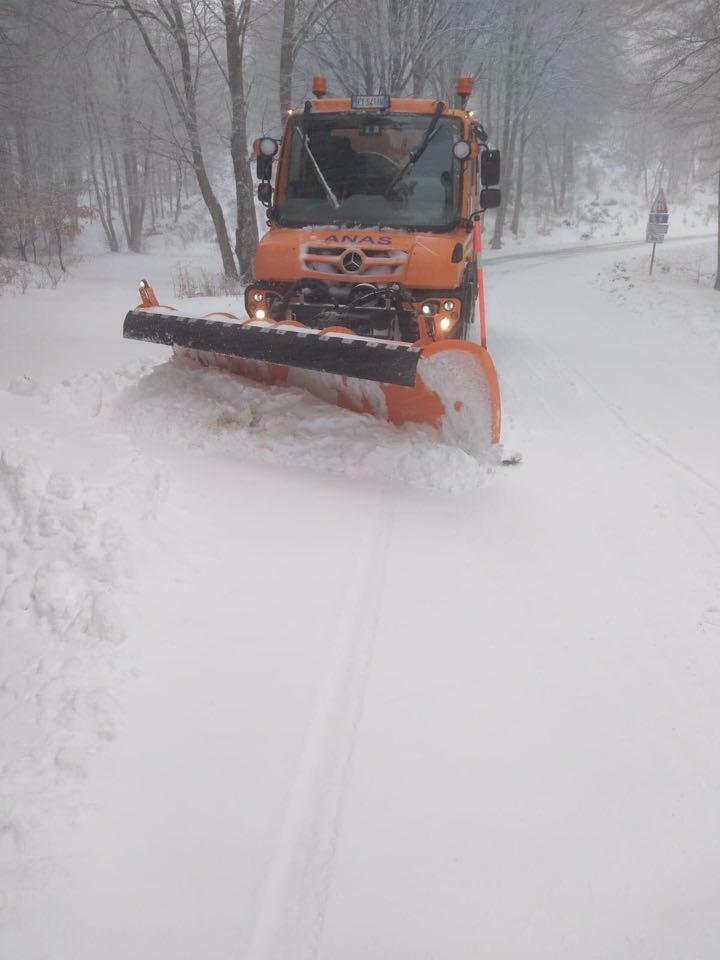 Nevicate in Calabria. Anas sul posto