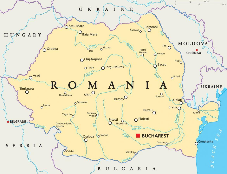 romania mappa