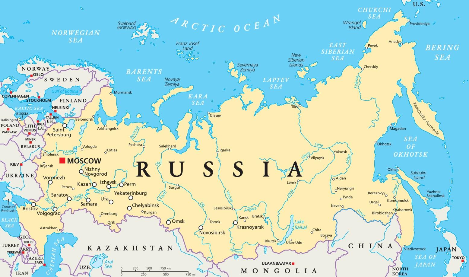 La Cartina Della Russia.Coronavirus In Russia 28 Casi Accertati 26 Provenivano Dall Italia 2 Dalla Cina Mosca Chiude Tutte Le Frontiere Meteoweb