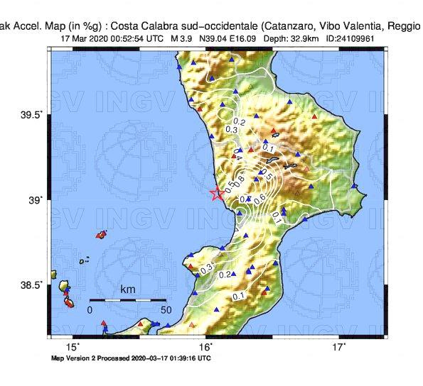 terremoto oggi sciame sismico calabria