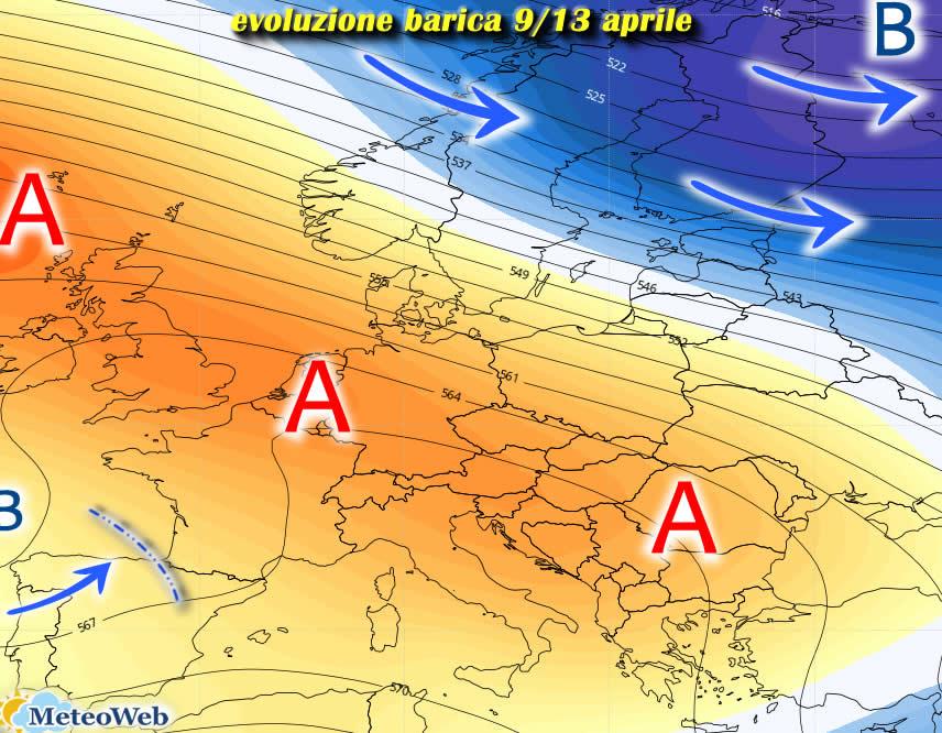Previsioni meteo 10 aprile: fase di bel tempo sull'Italia