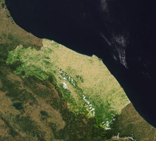 marche mappa satellite spazio