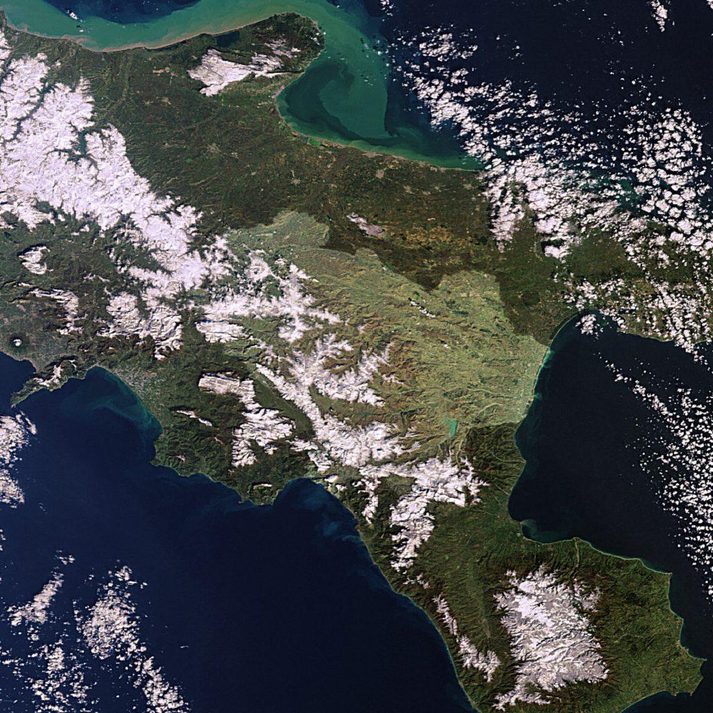Basilicata mappa spazio satellite esa