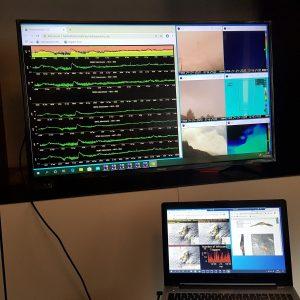 Esempio di postazione remota realizzata mediante l'uso di un Laptop e di una TV domestica