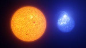 Macchie del Sole vs. macchie delle stelle estreme del ramo orizzontale (rappresentazione artistica)