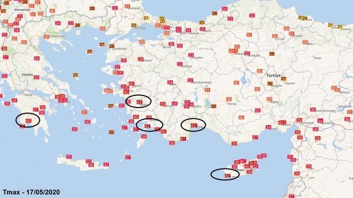 Photo of + 43 ° C στην Τουρκία και την Κύπρο, + 40 ° C στην Ελλάδα. [MAPPE e DATI]