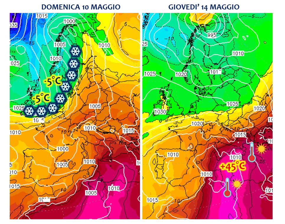 previsioni meteo europa maggio shock
