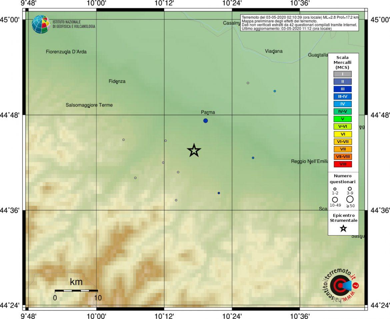 terremoto sciame sismico parma