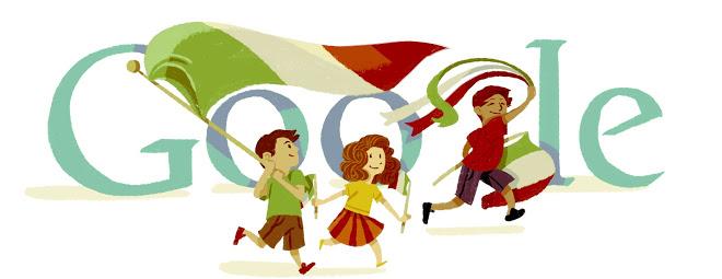 Il Doodle di Google per la Festa della Repubblica del 2012