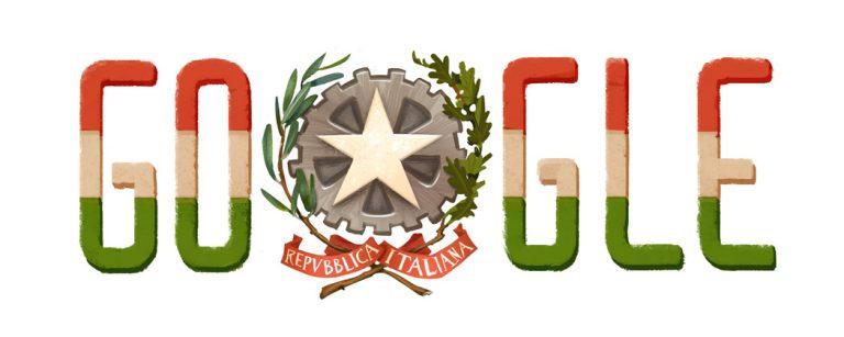 Il Doodle di Google per la Festa della Repubblica del 2015