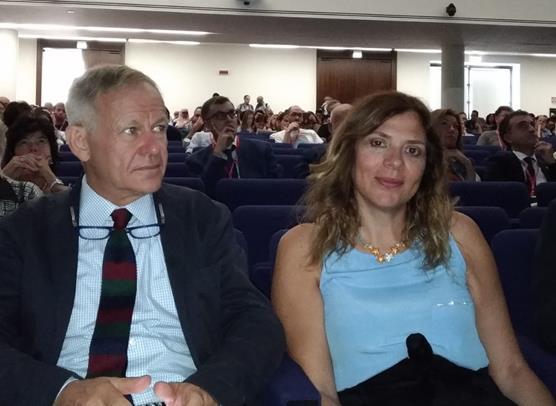 Il Presidente INGV Carlo Doglioni e il Direttore Generale INGV Maria Siclari, nel corso dei lavori del convegno