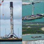 Crew Dragon, lo spettacolare atterraggio del Falcon 9: il momento, perso durante la diretta, in cui il razzo si posa sulla piattaforma [FOTO]
