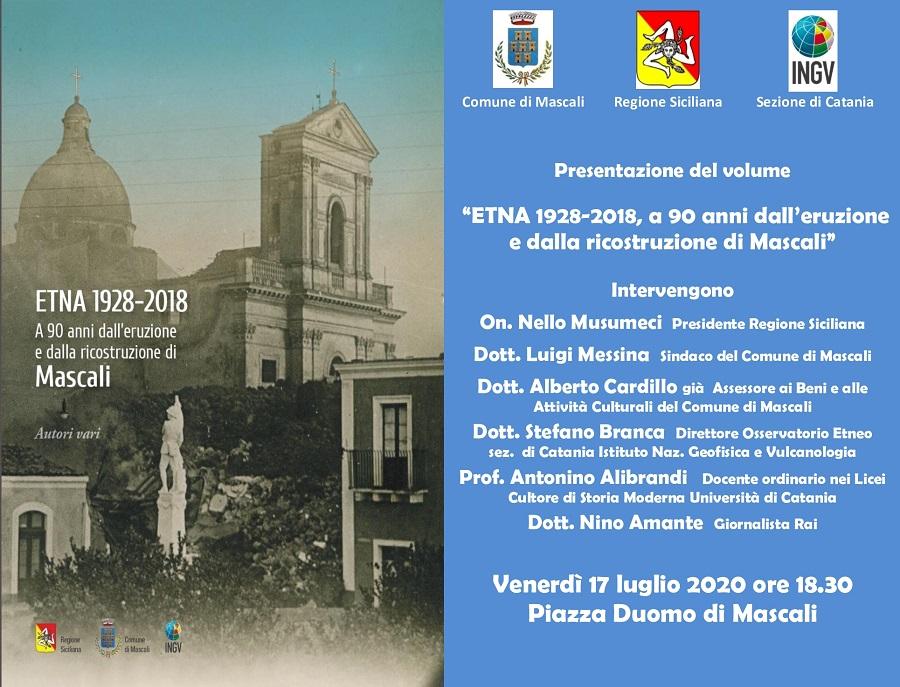 Etna 1928-2018 Mascali Locandina
