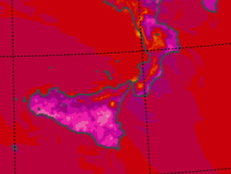 caldo calabria sicilia sabato 1 agosto 2020