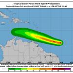 """La tempesta tropicale Gonzalo minaccia i Caraibi, """"potrebbe trasformarsi in uragano"""" [MAPPE]"""
