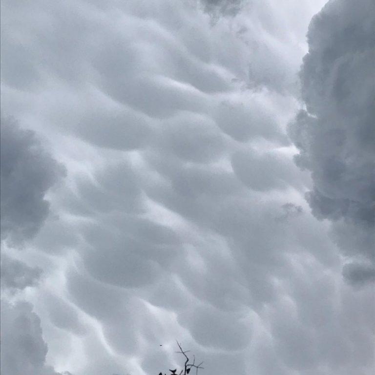 Nuvole Mammatus su Milano