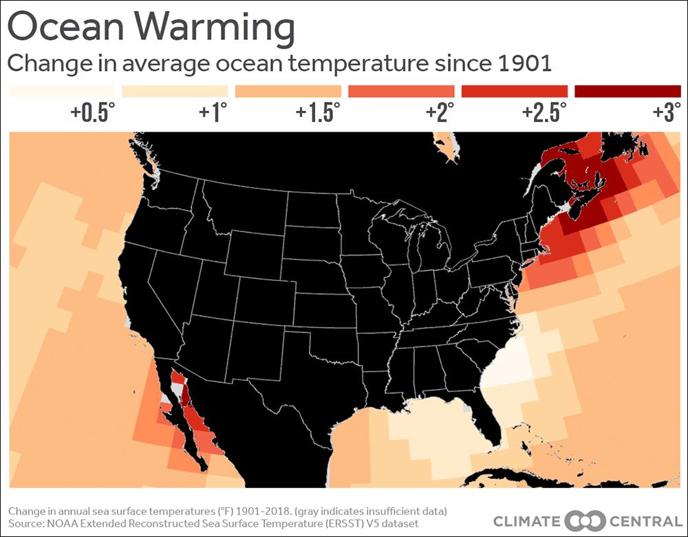 riscaldamento oceani new usa