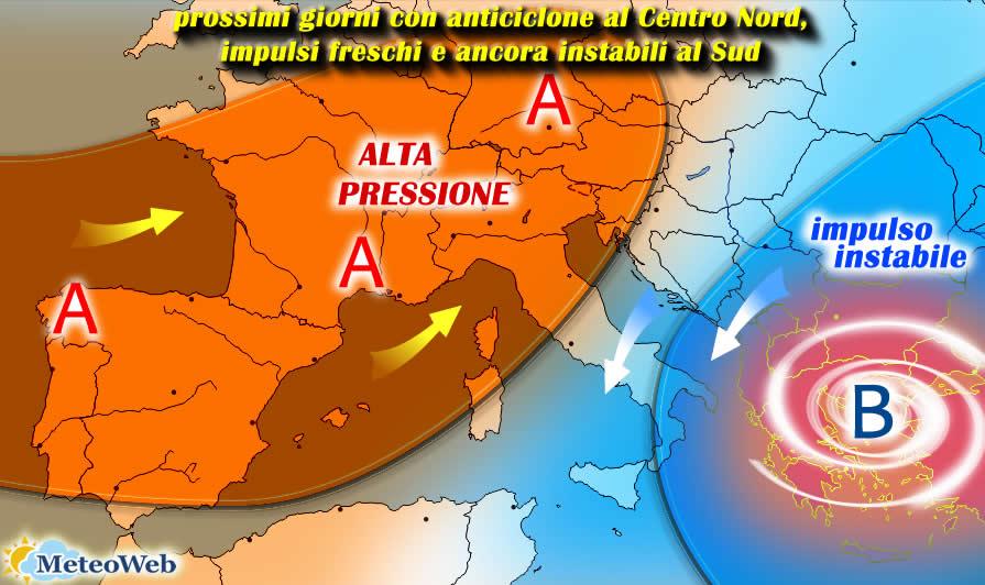 Previsioni meteo: la settimana parte bene, poi più temporali verso FERRAGOSTO?