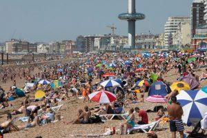 caldo estate spiaggia regno unito