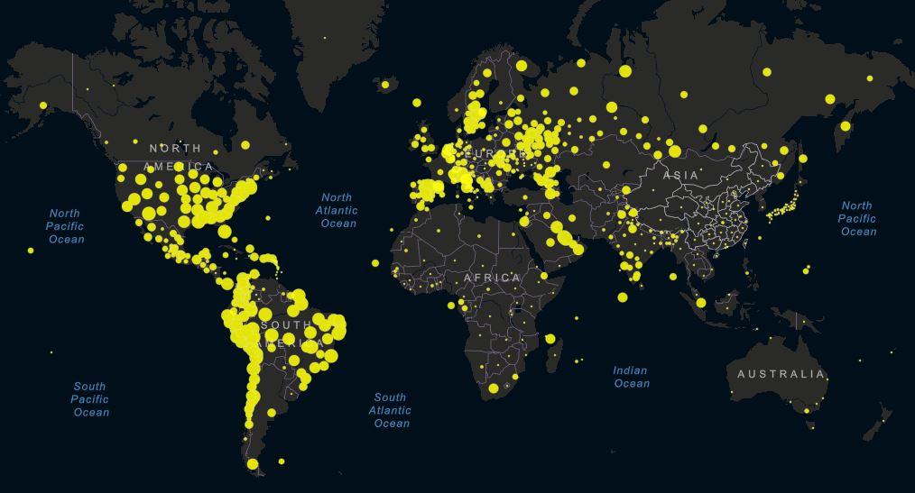 coronavirus mondo incidenza