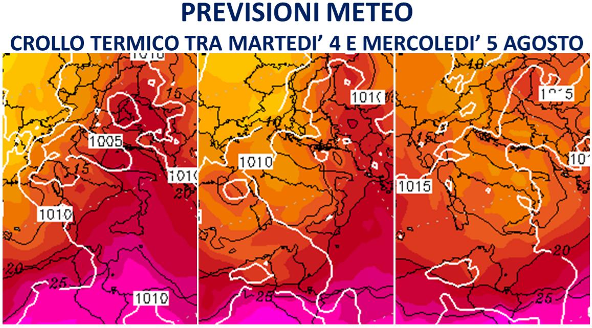 previsioni meteo italia agosto 2020