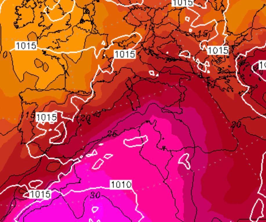 previsioni meteo ondata caldo sud