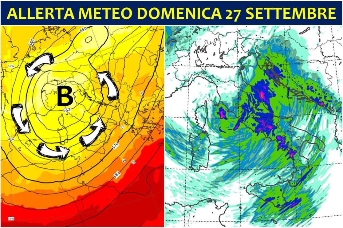 Allerta Meteo Ciclone Bomba Sull Italia è Allarme Per Il Maltempo Di Domenica 27 Temporali Alluvionali Al Centro Sud Meteoweb