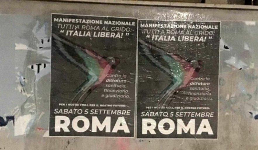 manifestazione coronavirus Roma