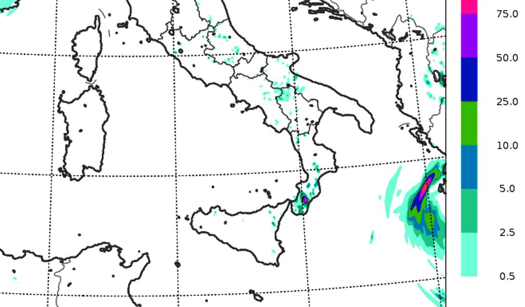 meteo sud italia temporali calabria sabato 19 settembre