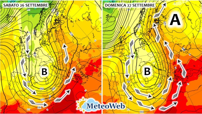previsioni meteo 26 27 settembre
