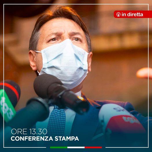 conferenza stampa conte oggi 25 ottobre 2020