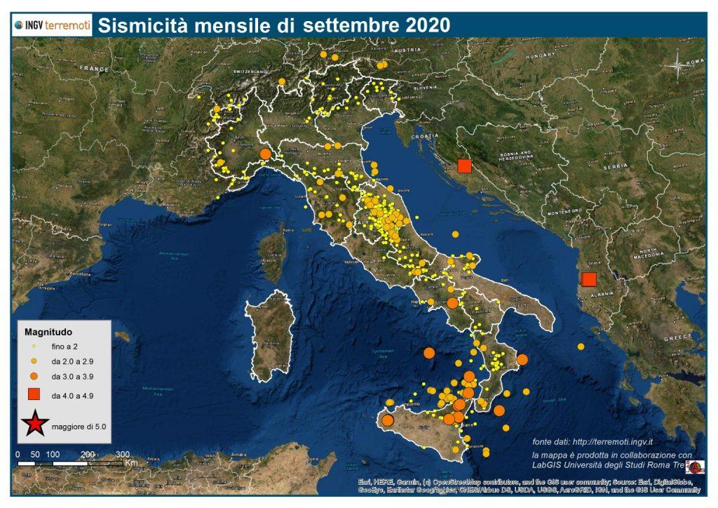 terremoti settembre 2020