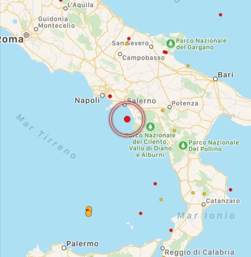 Terremoto Paura In Campania Scossa Nel Golfo Di Salerno Mappe E Dati Meteoweb