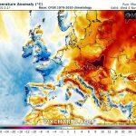 Meteo Europa, freddo improvviso in Regno Unito e Francia dopo i +28°C di ieri: da stasera neve in collina e gelo [MAPPE]