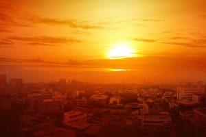 caldo sole città