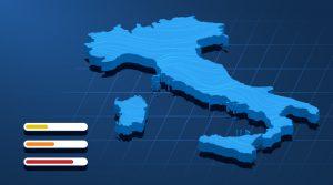 coronavirus italia mappa colori