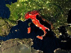 italia map notte