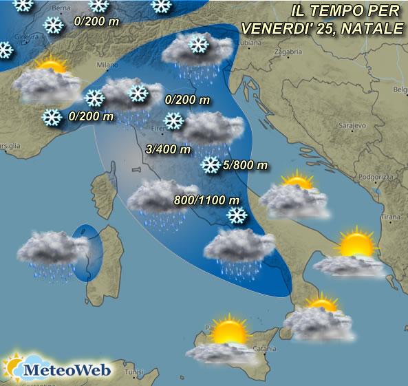 Meteo Cartina Italia.Previsioni Meteo Forte Ondata Di Freddo E Neve Sull Italia Tra Natale E Santo Stefano Mappe E Dettagli